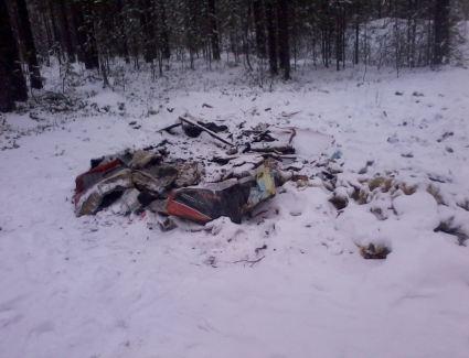 В Верхнекамском районе мусор пытались сжечь прямо в лесу