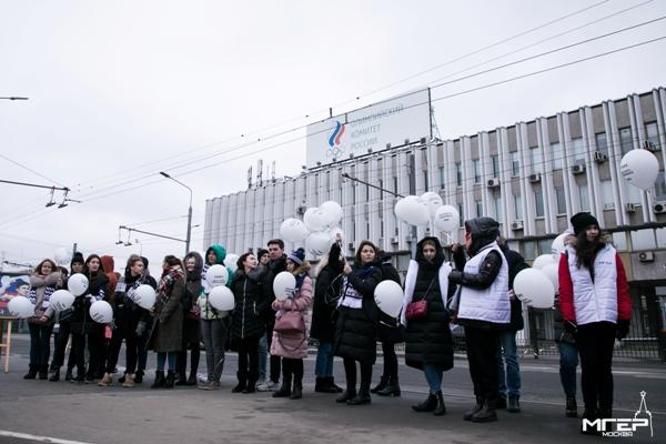 «Молодая Гвардия Единой России» провела акцию против решения WADA