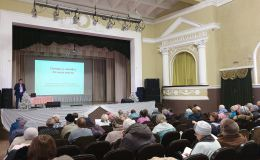 Школа садоводов Олега Валенчука провела первую лекцию в СКЦ «Семья»