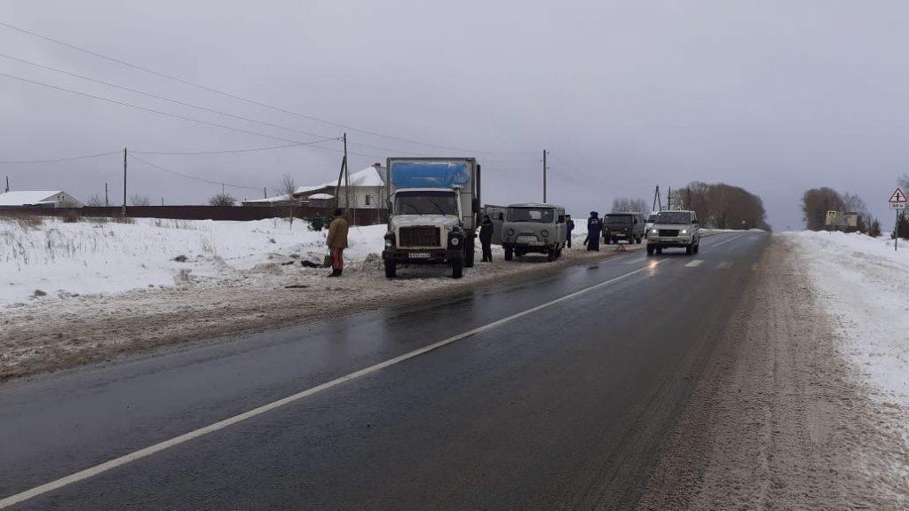 В Кирово-Чепецком районе грузовик налетел на пешехода