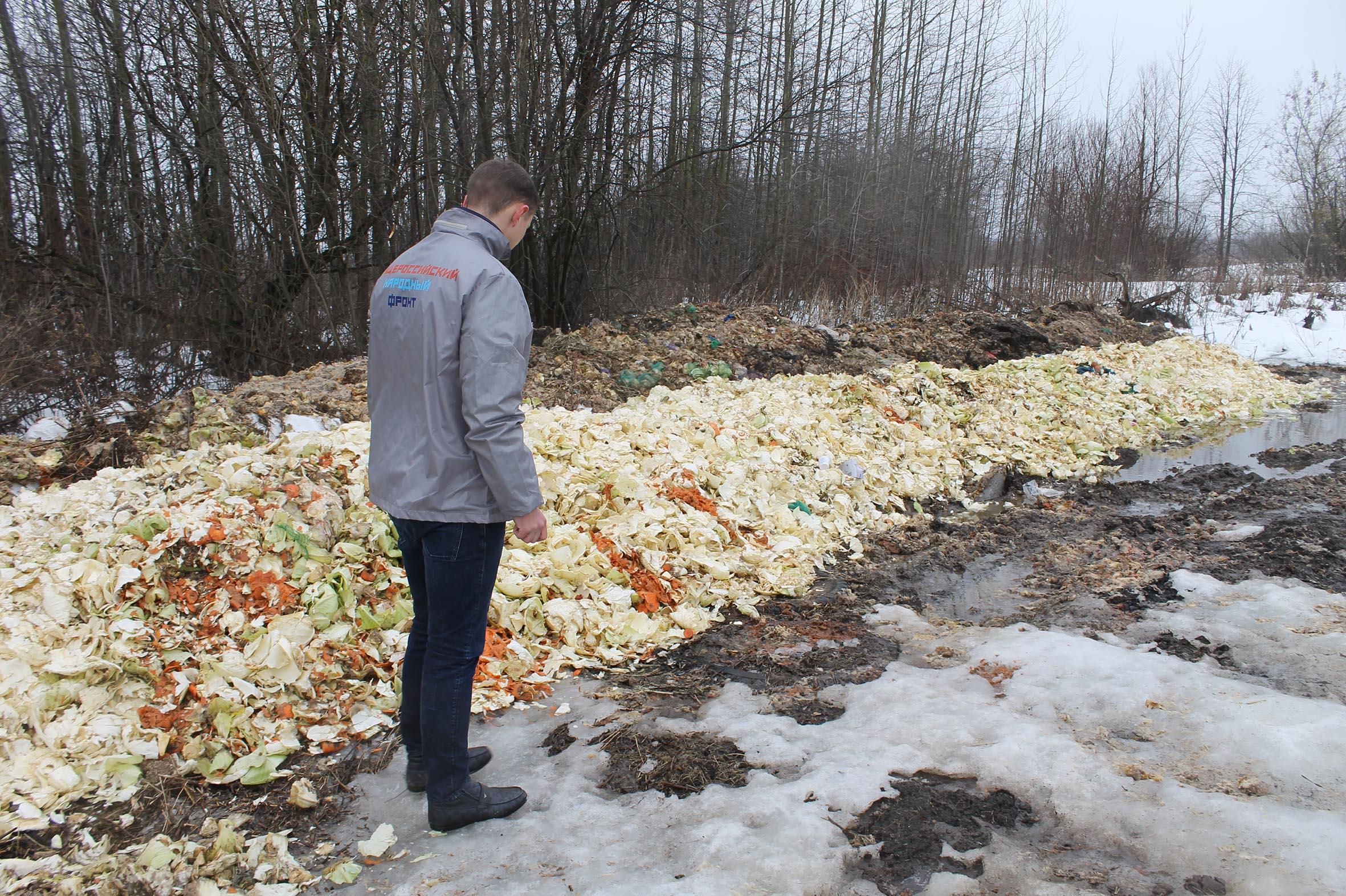 В Истобенске устроили свалку из остатков овощей