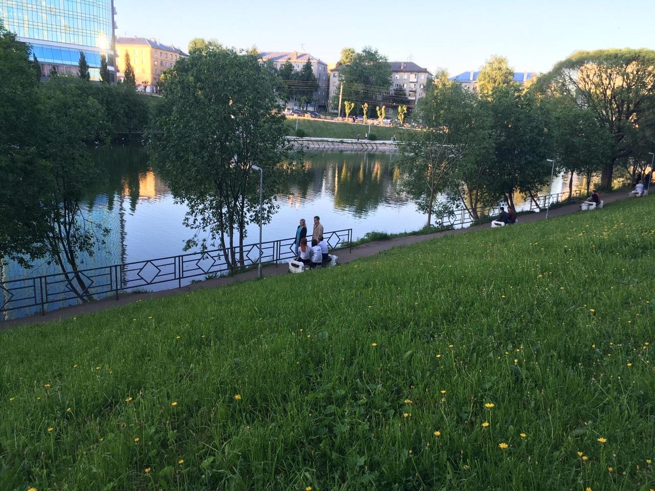 У пруда в парке имени Кирова установили забор