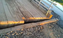 В Кировской области нашли бесхозный мост через Каму