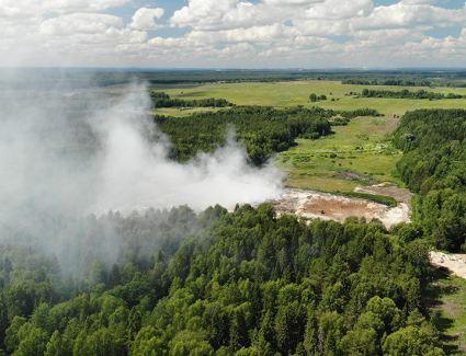 В Кирово-Чепецке горит полигон ТБО, находящийся в водоохранной зоне Просницкого пруда