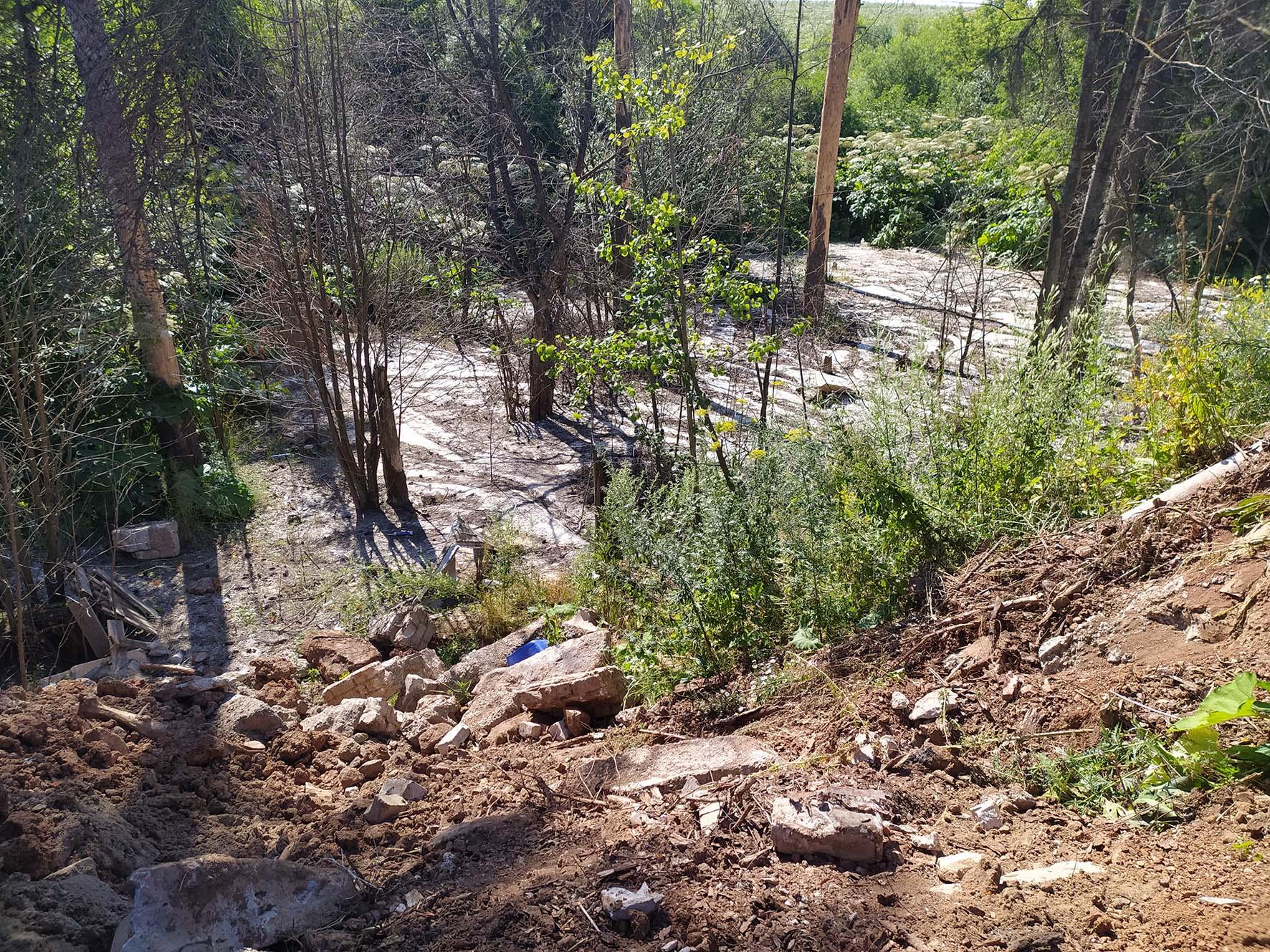 Забетонированный лес в Кирове начали заваливать мусором