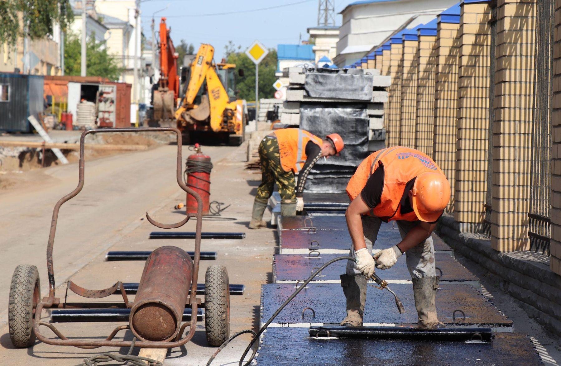 Реконструкция теплосети на улице Казанской идет в соответствии с графиком