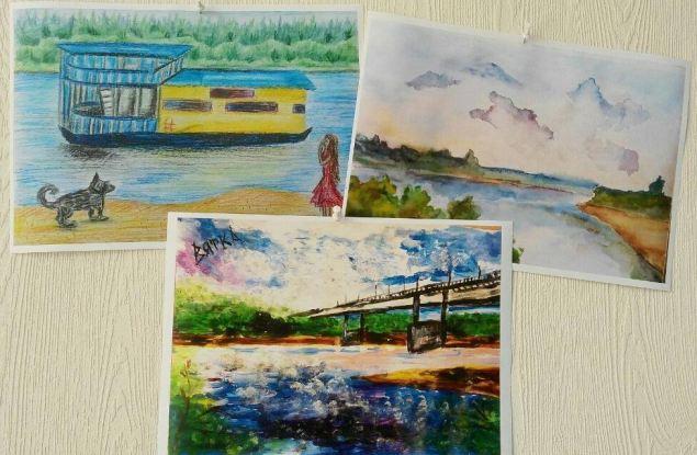 На квитанциях от «Водоканала» будут печатать детский рисунок реки Вятки