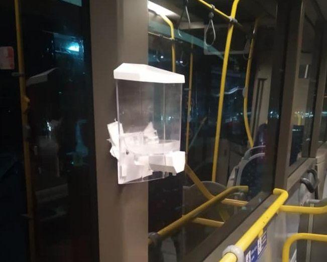 В кировском общественном транспорте начали появляться диспенсеры с антисептиками