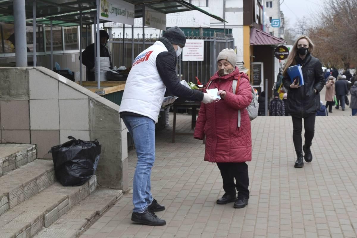 Волонтеры «Единой России» призывают кировчан соблюдать масочный режим