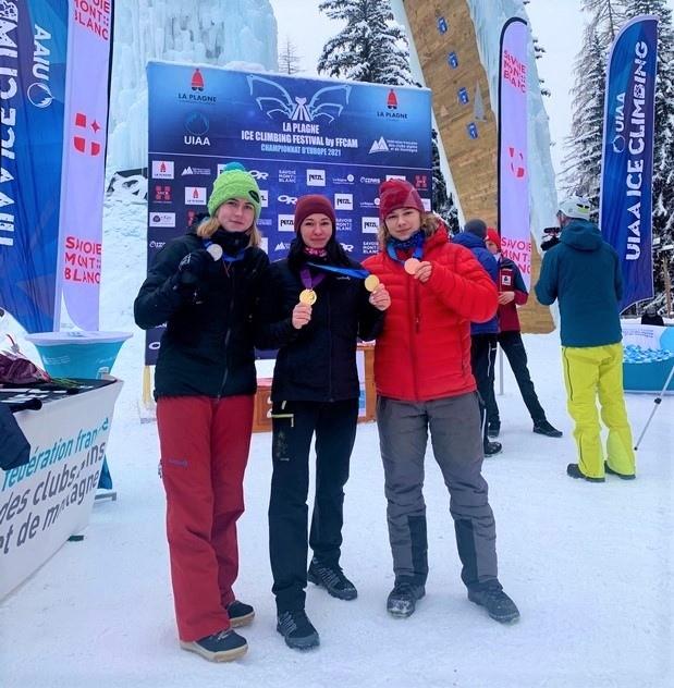 Кировчанка завоевала 2 золотые медали на чемпионате Европы по ледолазанию