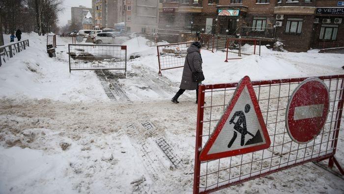 Из-за коммунальной аварии на улице Володарского в центре Кирова было ограничено движение