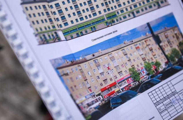 Как «обновляются» фасады Ленинского района