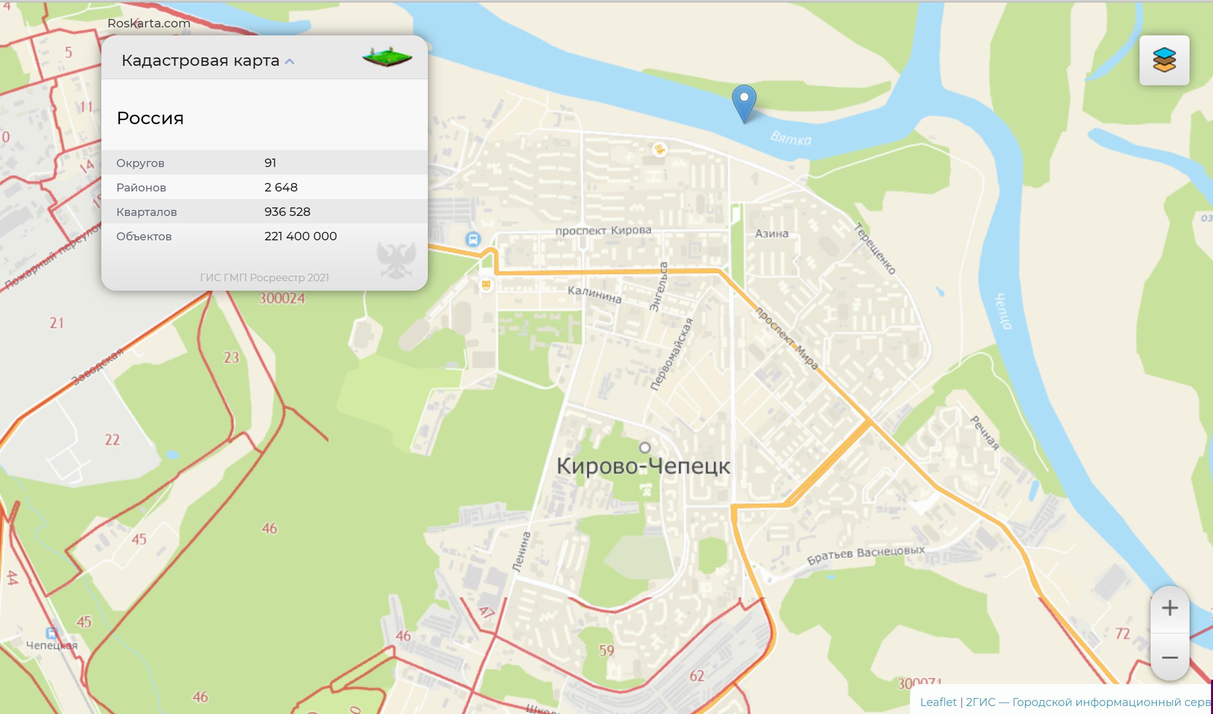 Публичная кадастровая карта – полная информация об объектах недвижимости в режиме онлайн