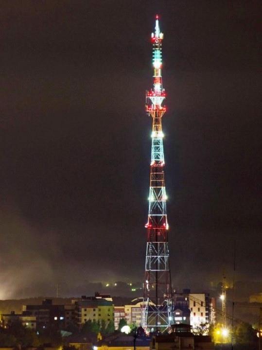 Кировскую телебашню окрасят красно-белыми огнями к 23 февраля