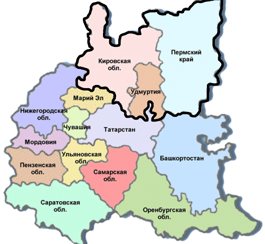 В рамках укрупнения регионов могут быть объединены Кировская область, Пермский край и Удмуртия