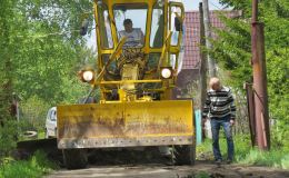Грейдер Союза садоводов России начал работу на Советском тракте