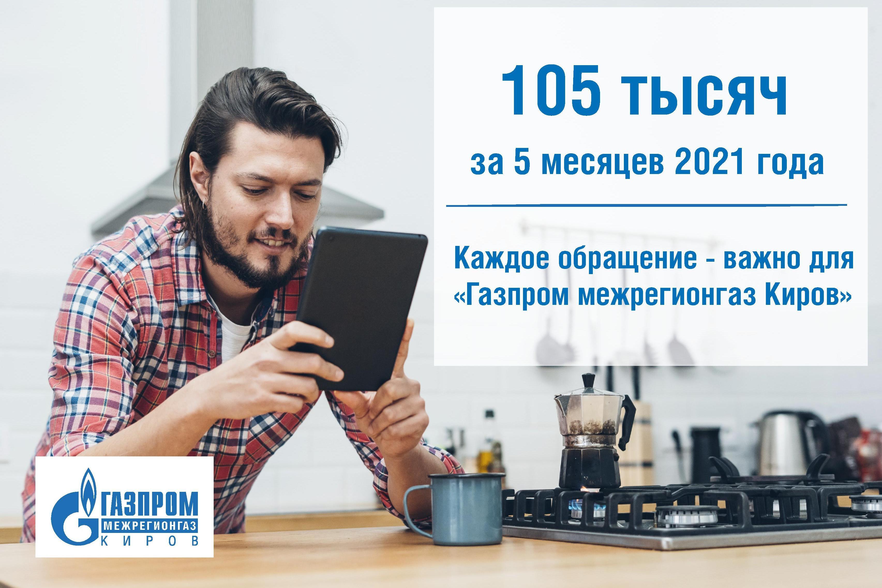 Каждое обращение абонента – важно для «Газпром межрегионгаз Киров»