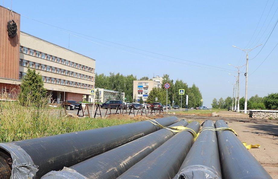 Т Плюс обновляет теплосети под будущим сквером «Река времени» в Кирово-Чепецке