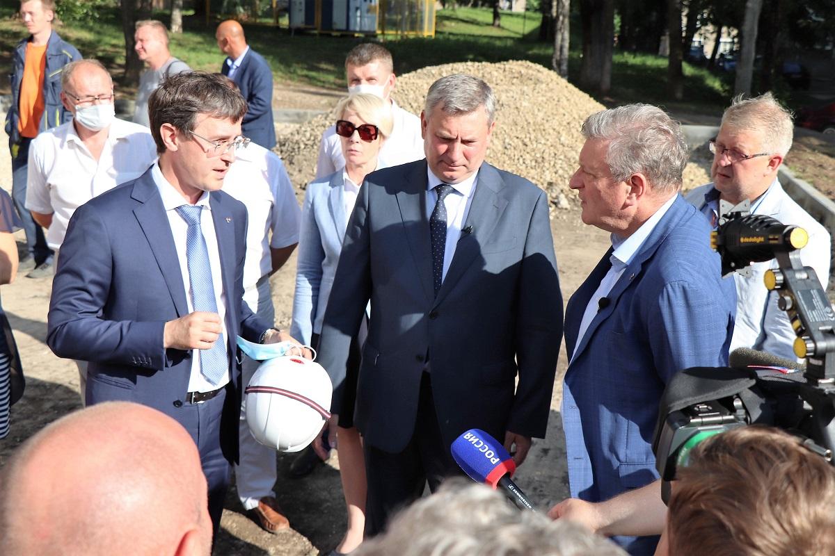 Губернатор Кировской области высоко оценил синхронизацию работ по строительству теплосетей в г. Кирове