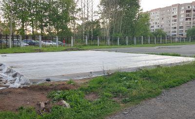 Кировчане заметили странный фундамент. Что будут строить около трамплина?