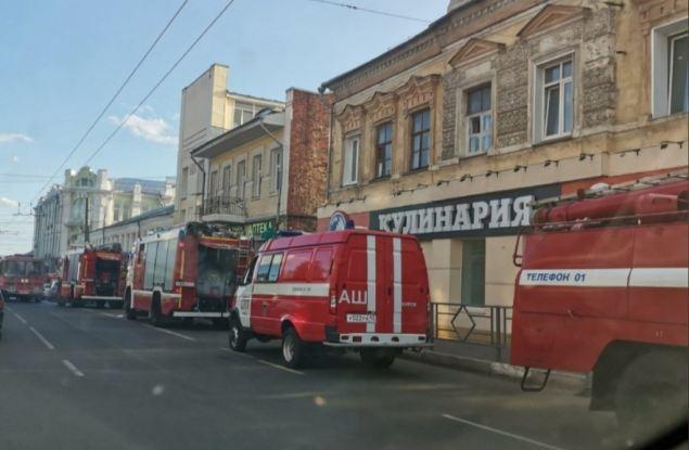 В центре Кирова горело историческое здание