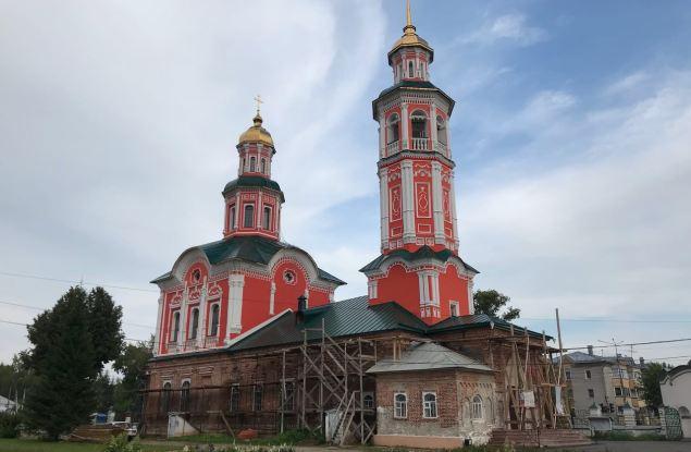 Ремонт фасада Троицкого храма в Макарье вступил в заключительную стадию