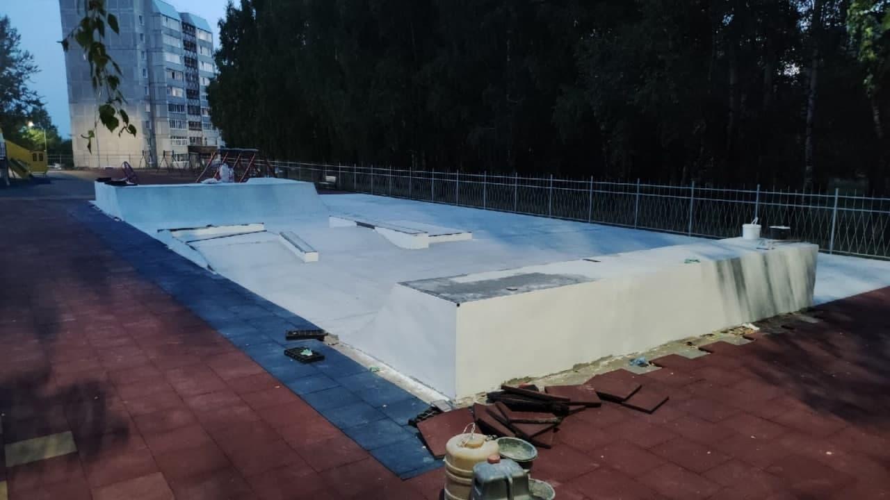 В Кирово-Чепецке открывается первый в Кировской области бетонный скейтпарк