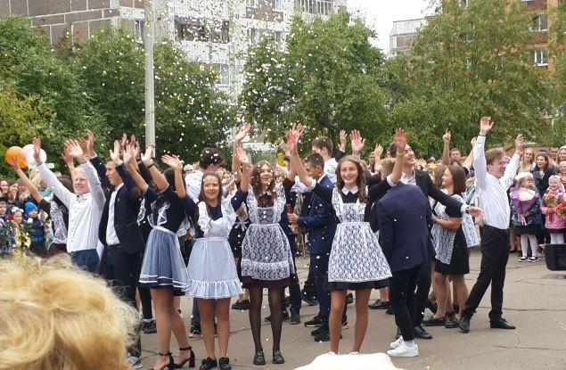Торжественные линейки, посвященные Дню знаний, прошли и в школах Кирово- Чепецка
