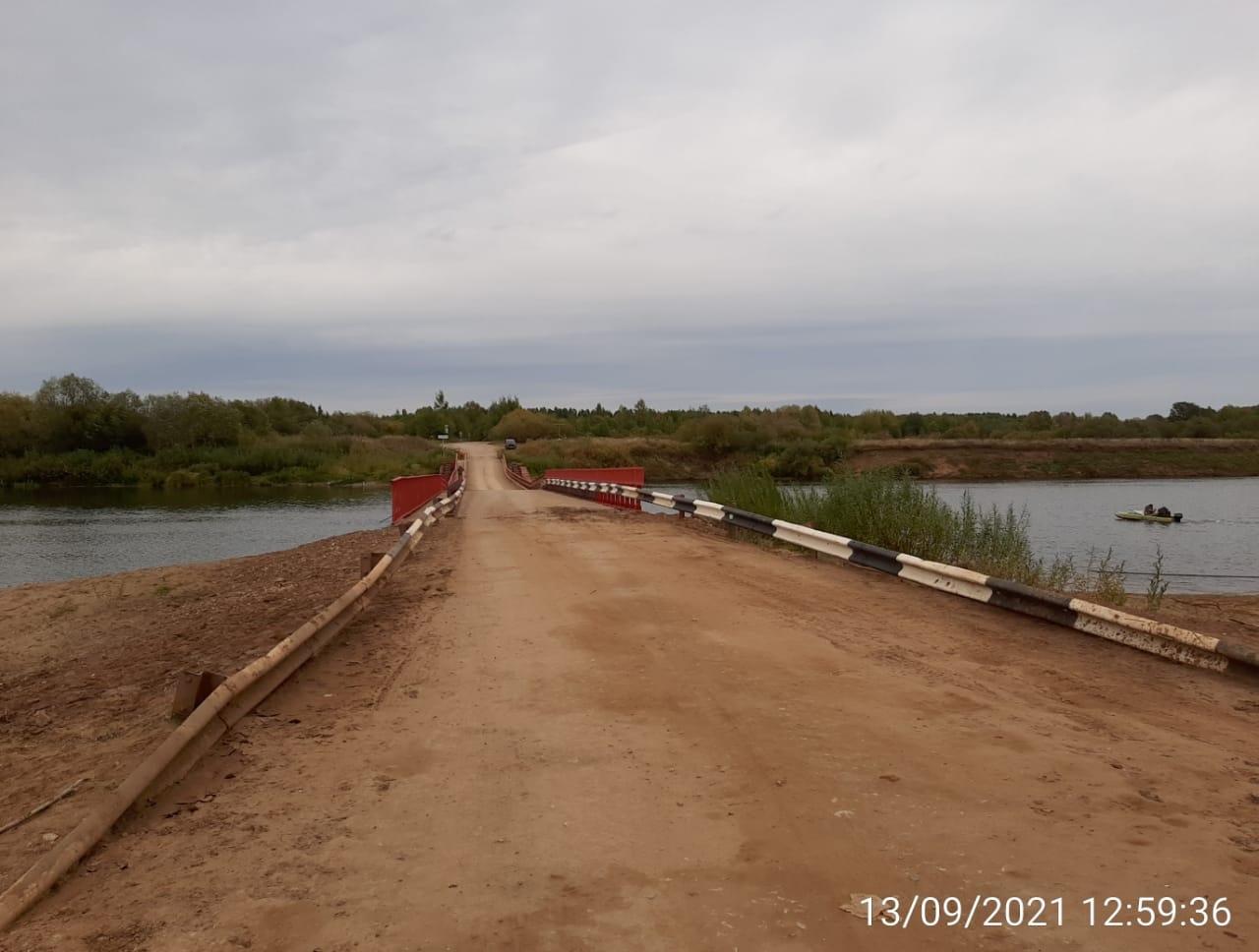 Понтонный мост на Каринторф открыли и для грузового транспорта