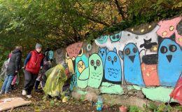 В Кирове проходит арт-фестиваль «ПОРТ». Левый берег Вятки украсили совами