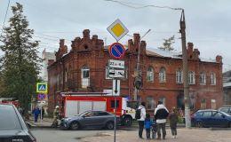 В центре Кирова вновь горит историческое здание
