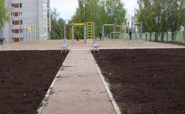 На улице Конева появится новая спортплощадка. «Коробка» пустовала там десяток лет