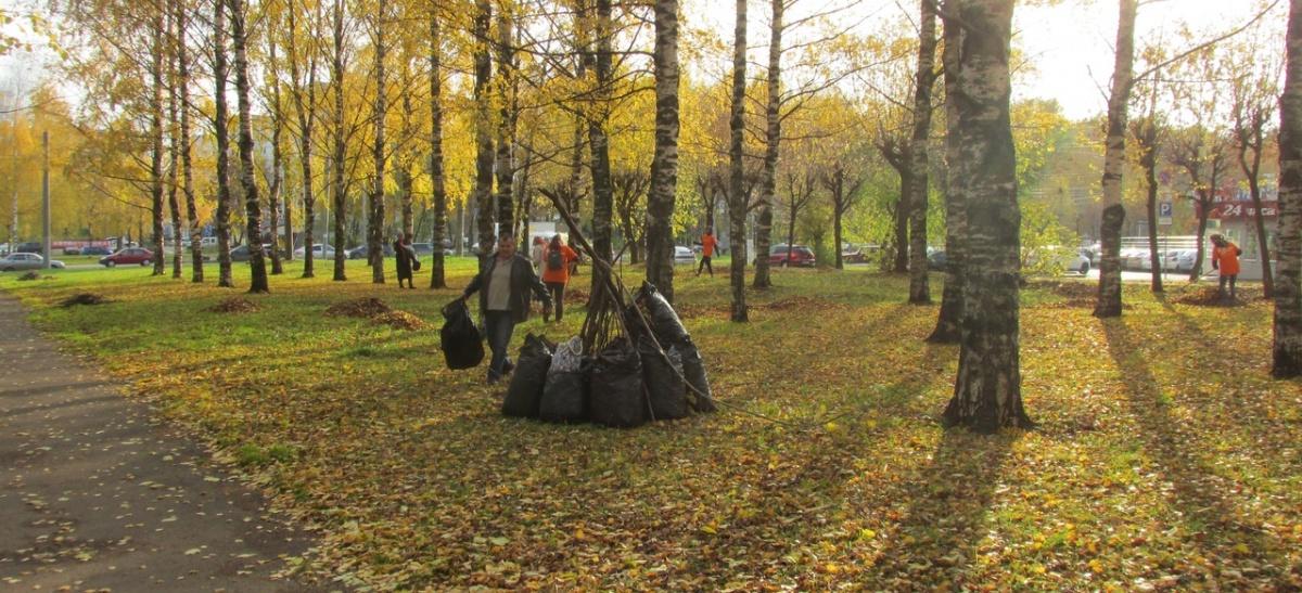 В кировских парках прошли субботники