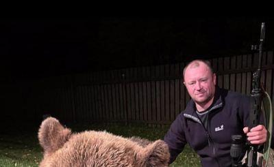 Житель Кирова добыл 200-килограммового медведя и стал объектом критики у людей