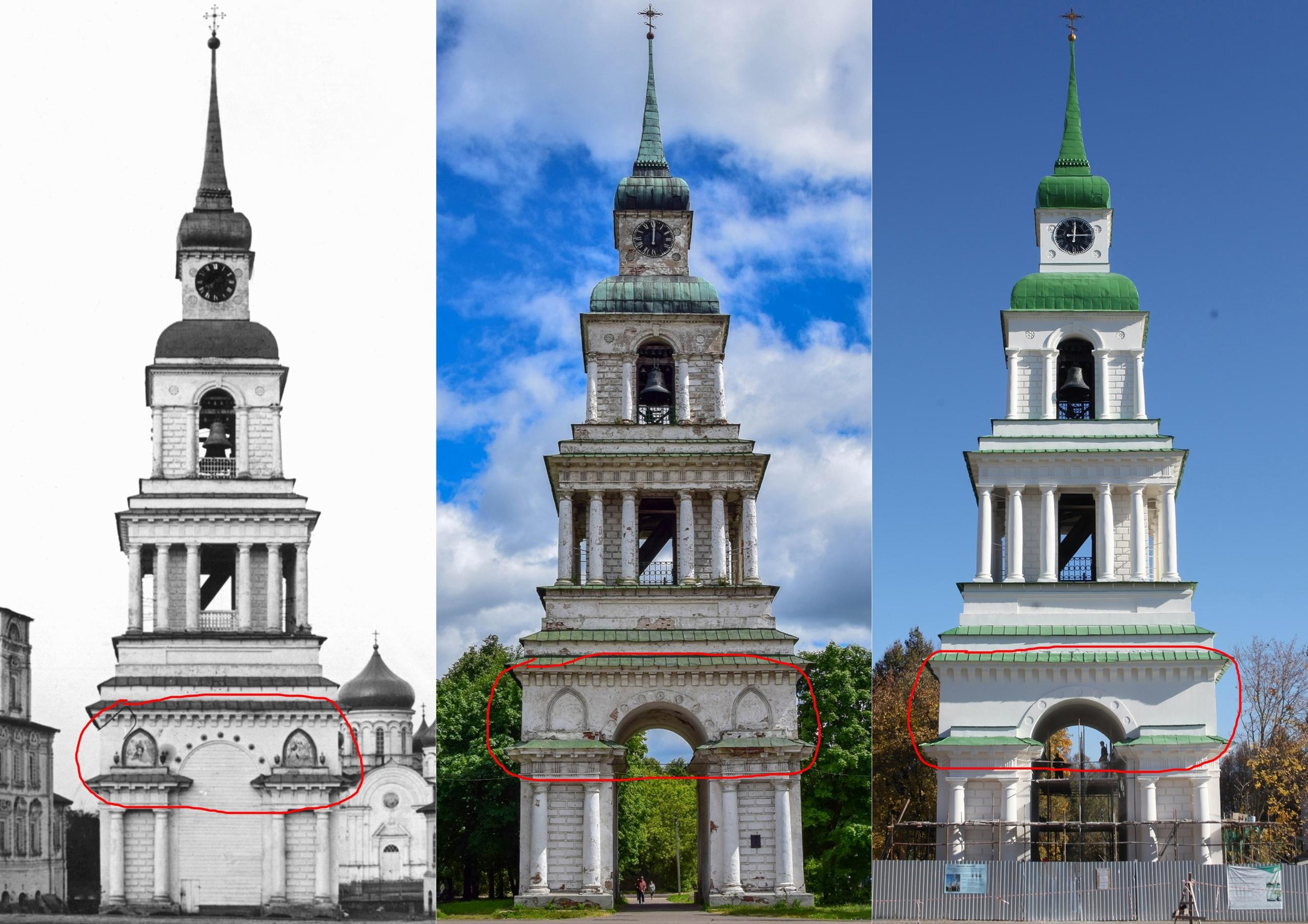 Власти Слободского намерены заставить подрядчика восстановить лепной узор на колокольне