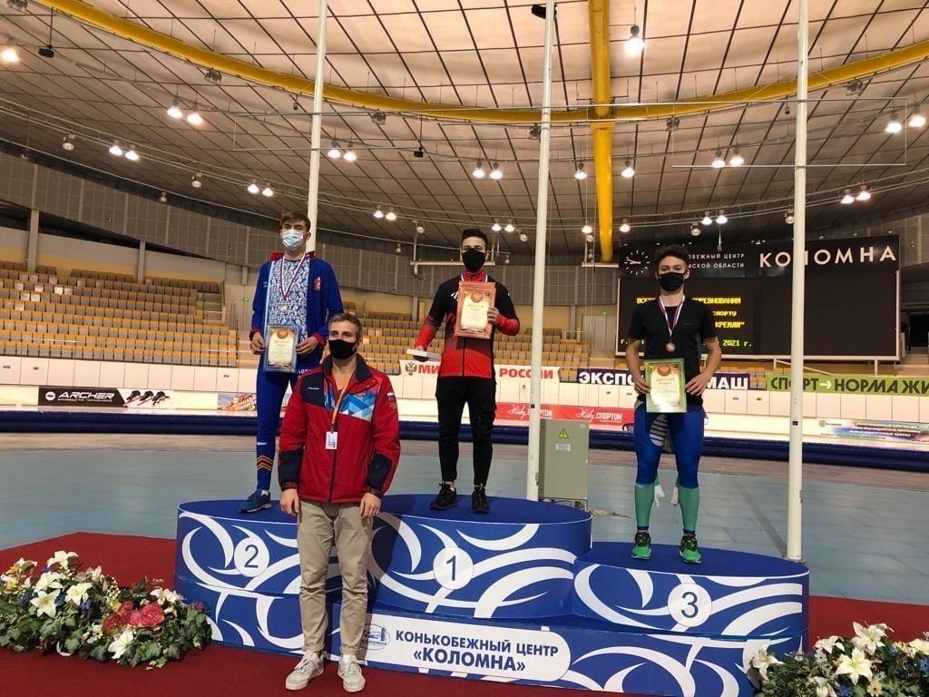 Чепецкий конькобежец завоевал «бронзу»на Всероссийских соревнованиях по конькобежному спорту