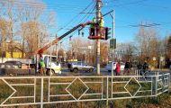 В Кирове починили один из самых проблемных светофоров - на перекрестке Щорса-Производственной