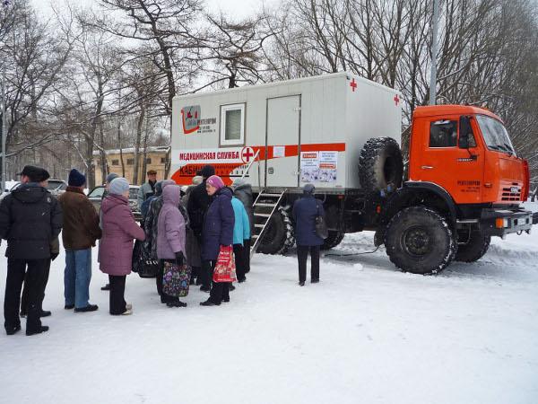 Кировчанам предлагают бесплатно сделать флюорографию на площади Конева