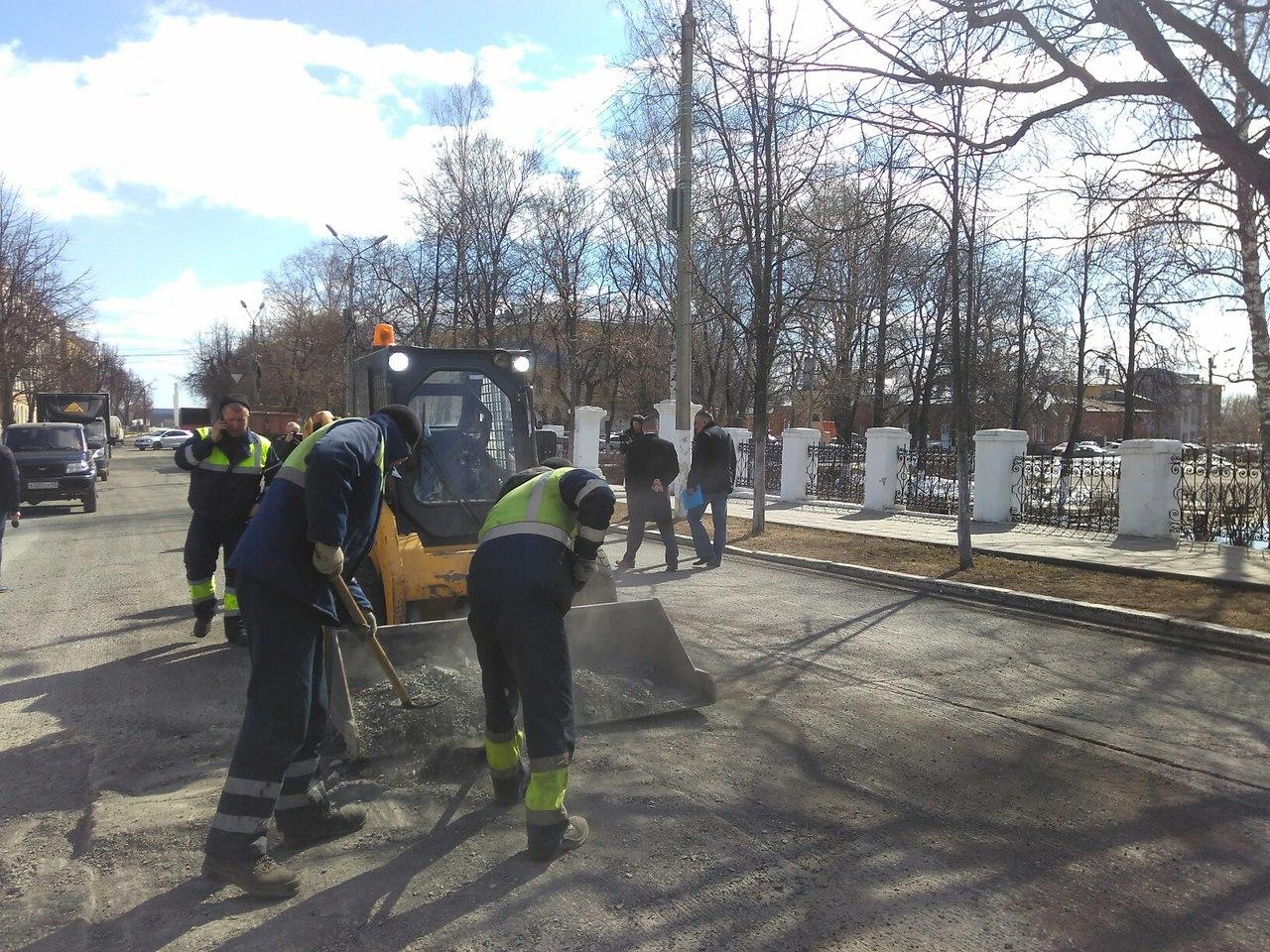 В Кирове начали ремонт улицы Московской