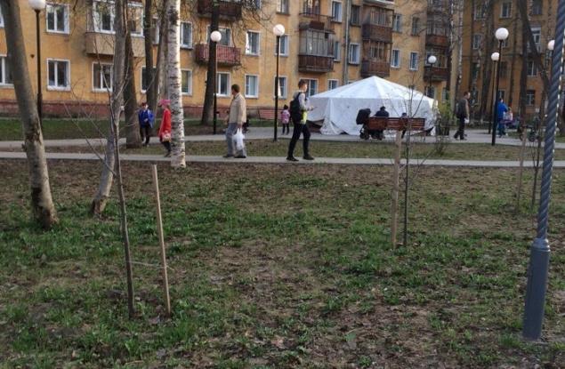 В Кирове на Филейке до сих пор не работает фонтан и не прибран сквер