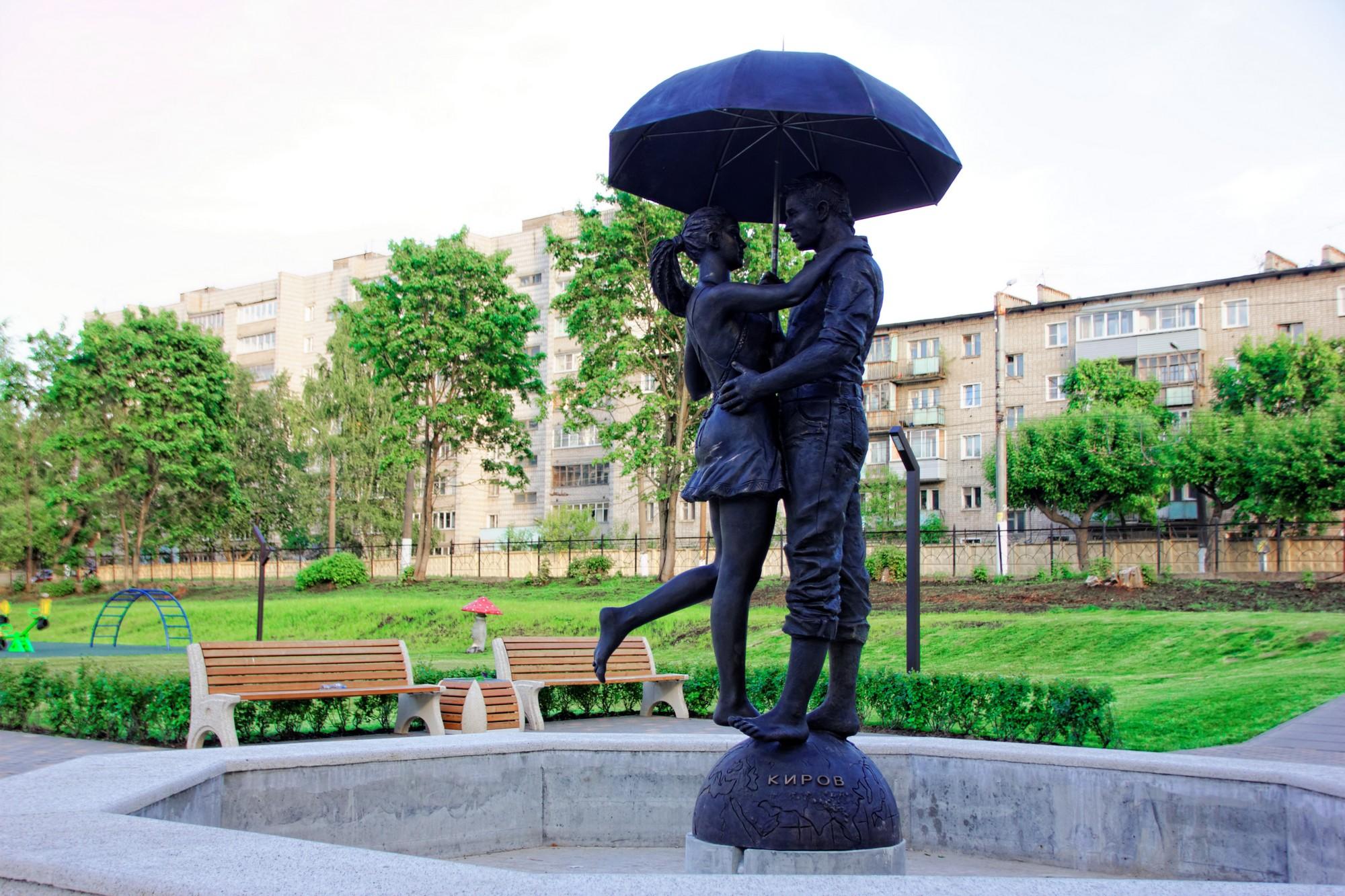 В сквере «Алые паруса» установлен фонтан