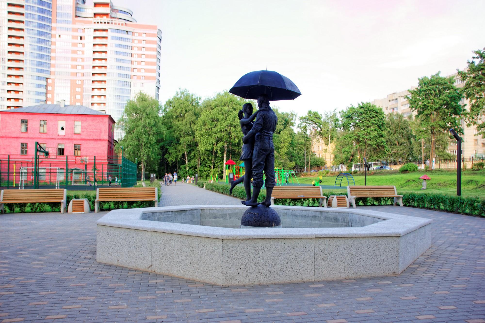 В сквере «Алые Паруса» появился фонтан