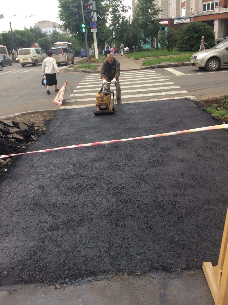 КТК с начала июля восстановила 3500 кв.м асфальта