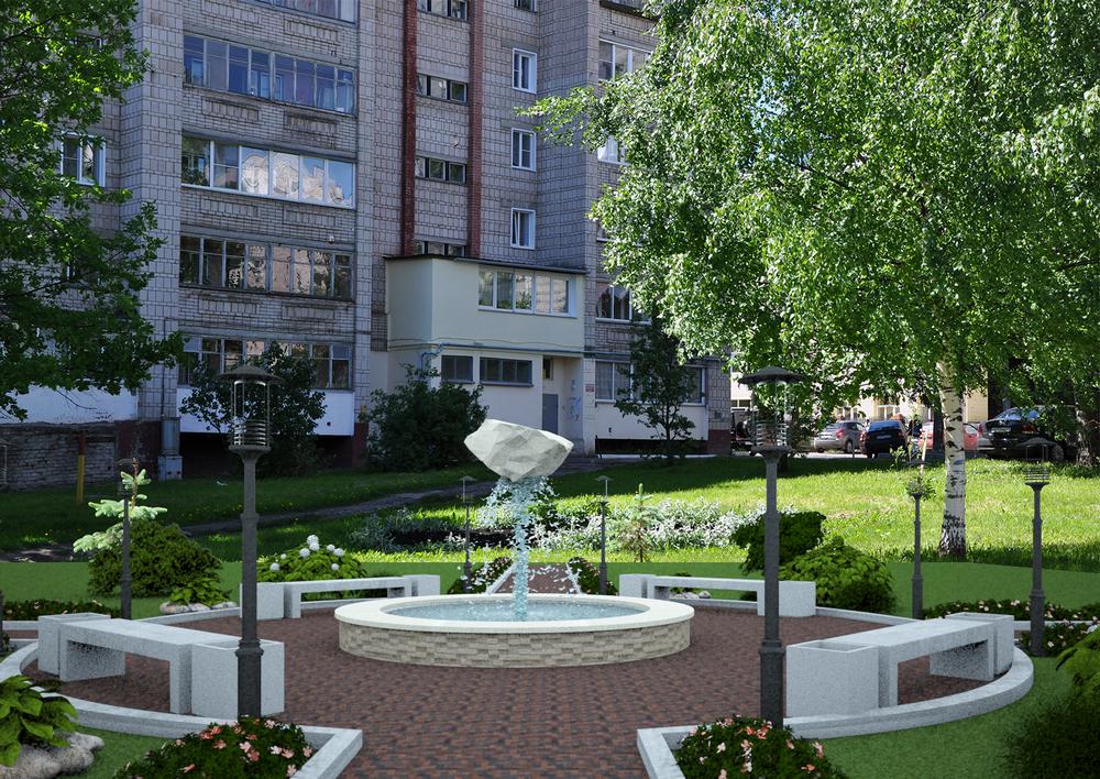 ККС построят фонтан «Парящий камень»