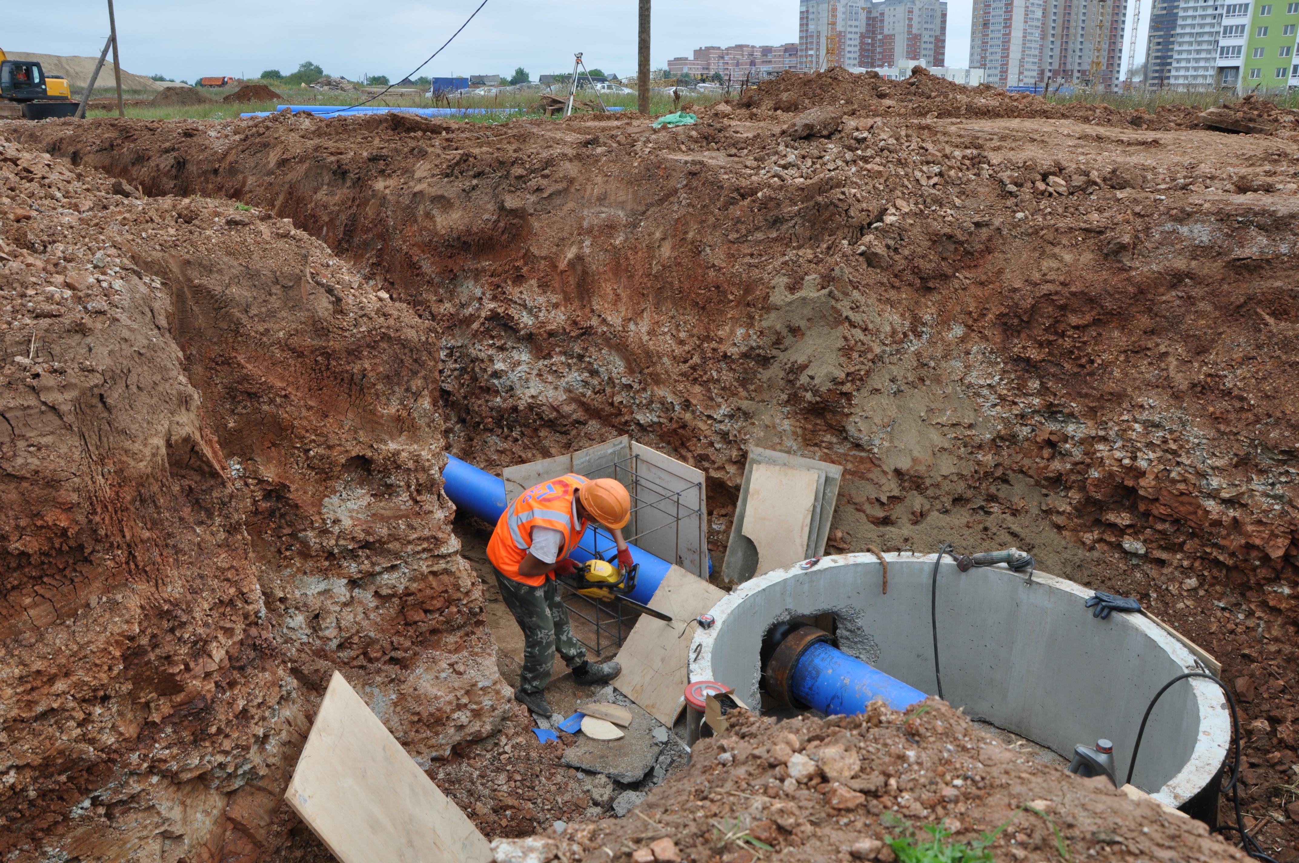 ККС строят кольцевой водопровод