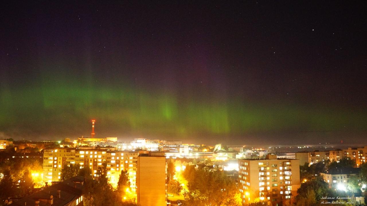 Кировчане запечатлели на снимках северное сияние