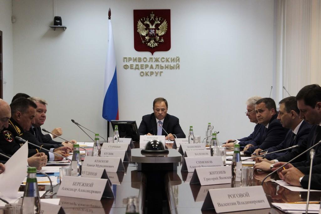 Полпред президента в ПФО Игорь Комаров провел рабочую встречу с главными федеральными инспекторами
