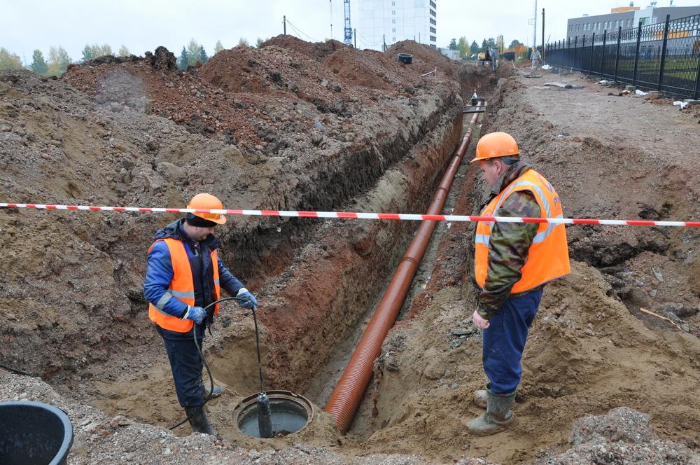 ККС строят ливневую канализацию