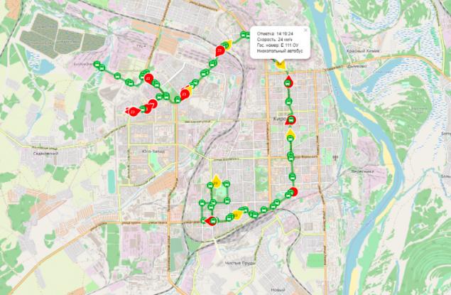 На карте пассажирского транспорта Кирова «засветили» низкопольные автобусы