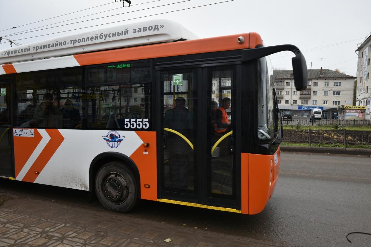 По Кирову пустили экспериментальный троллейбус